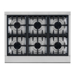 "DCS - Professional Series CPU-366-L 36"" Liquid Propane Rangetop With 6 Sealed Dual Flo - Equipped with features that meet the demanding expectations of the finest chefs the performance and precision of the DCS CPU366L 36-Inch Professional Cooktop will leave you amazed Patented DCS Dual Flow Burners supply both high output and the lowest ..."