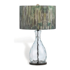 Forest Eco Recycled Glass Hand Printed Shade Table Lamp