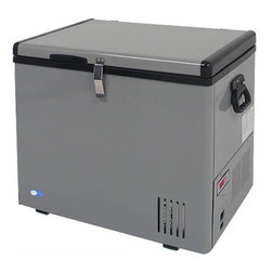 "Whynter - Portable Fridge & Freezer in Gray Finish (45 qt.) - Choose Capacity: 45 qt.. Ideal for your home or camper, this handy portable cooler with adjustable temperature control operates as either a refrigerator or freezer.  Interior wire baskets can be lifted out for easy access, and it's available in your choice of three capacity sizes. Includes 8 ft. AC power cord and 6 ft. DC power cord. Operates as a refrigerator or freezer. Compressor cooling system. Voltage power AC (115V/ 60Hz - 65W/ 0.75A) or DC (12V/24V - 4.5A /2.5A CarLighter Socket) . Wattage: 65 Watts. ""Fast Freeze"" mode rapidly cools to -8°F. Adjustable temperature range: -8°F to 50°F. LED temperature display. Power low indicator. Insulated lid and walls. 2 Removable wire baskets. Side handles for easy mobility. Floor drain for easy draining. Functions even when tilted 30°. Tough and solid outer casing. ETL approved. No assembly required. 1-Year warranty on labor. 45 qt. Portable freezer:. Capacity: 45 qts. or 60 cans (12FL oz.). Internal dimensions: 11.5 in. L x 18.5 in. W x 15 in. H. Internal dimensions including a compressor step: 11.25 in. L x 7.5 in. W x 8 in. H. External dimensions: 18 in. L x 24 in. W x 21 in. H. Net weight: 45 lbs.. 65 qt. Portable freezer:. Capacity: 65 qts. or 107 cans (12FL oz.). Internal dimensions: 23.5 in. W 12.5 in. L x 15 in. H. Internal dimensions including a compressor step: 7.5 in. W x 8 in. H. External dimensions: 18 in. L x 28 in. W x 20.8 in. H. Net weight: 57 lbs.. 85 qt. Portable freezer:. Capacity: 85 qts. or 120 cans (12FL oz.). Internal dimensions: 15.7 in. L x 23.5 in. W x 15 in. H. Internal dimensions including a compressor step: 8 in. W x 8 in. H. External dimensions: 21 in.L x 29 in. W x 21 in. H (71 lbs.)This Whynter Portable Fridge/Freezer offers premium quality and innovative design to your frozen/refrigerated needs. This freezer is great for RVs, boats, campsites, fishing trips and truly portable so you can take your fridge/freezer anywhere! All you need is either a standard household 110 Volt outlet or a 12 Volt power source, like an automotive battery.Whether on a day trip or major expedition, you can easily keep your food and beverages chilled, or frozen with this benchtop freezer. The Whynter portable freezers should not to be confused with less effective 12 volt novelty and beverage type ""coolers"", the Whynter portable freezer fridge is a true freezer/refrigerator which cools between -8°F to 50°F. A cost effective and mobile solution for your recreational and critical freezing requirements."