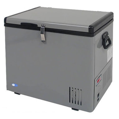 """Whynter - Portable Fridge & Freezer in Gray Finish (45 qt.) - Choose Capacity: 45 qt.. Ideal for your home or camper, this handy portable cooler with adjustable temperature control operates as either a refrigerator or freezer.  Interior wire baskets can be lifted out for easy access, and it's available in your choice of three capacity sizes. Includes 8 ft. AC power cord and 6 ft. DC power cord. Operates as a refrigerator or freezer. Compressor cooling system. Voltage power AC (115V/ 60Hz - 65W/ 0.75A) or DC (12V/24V - 4.5A /2.5A CarLighter Socket) . Wattage: 65 Watts. """"Fast Freeze"""" mode rapidly cools to -8°F. Adjustable temperature range: -8°F to 50°F. LED temperature display. Power low indicator. Insulated lid and walls. 2 Removable wire baskets. Side handles for easy mobility. Floor drain for easy draining. Functions even when tilted 30°. Tough and solid outer casing. ETL approved. No assembly required. 1-Year warranty on labor. 45 qt. Portable freezer:. Capacity: 45 qts. or 60 cans (12FL oz.). Internal dimensions: 11.5 in. L x 18.5 in. W x 15 in. H. Internal dimensions including a compressor step: 11.25 in. L x 7.5 in. W x 8 in. H. External dimensions: 18 in. L x 24 in. W x 21 in. H. Net weight: 45 lbs.. 65 qt. Portable freezer:. Capacity: 65 qts. or 107 cans (12FL oz.). Internal dimensions: 23.5 in. W 12.5 in. L x 15 in. H. Internal dimensions including a compressor step: 7.5 in. W x 8 in. H. External dimensions: 18 in. L x 28 in. W x 20.8 in. H. Net weight: 57 lbs.. 85 qt. Portable freezer:. Capacity: 85 qts. or 120 cans (12FL oz.). Internal dimensions: 15.7 in. L x 23.5 in. W x 15 in. H. Internal dimensions including a compressor step: 8 in. W x 8 in. H. External dimensions: 21 in.L x 29 in. W x 21 in. H (71 lbs.)This Whynter Portable Fridge/Freezer offers premium quality and innovative design to your frozen/refrigerated needs. This freezer is great for RVs, boats, campsites, fishing trips and truly portable so you can take your fridge/freezer anywhere! All yo"""