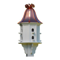 Vinyl Birdhouse, Copper Ribbon Roof