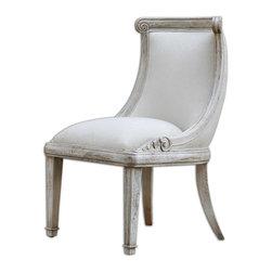 Uttermost - Uttermost 23603 Anesio Armless Chair - Uttermost 23603 Anesio Armless Chair