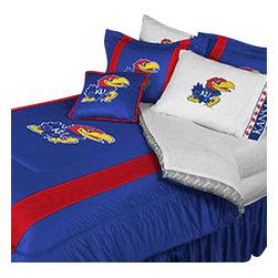 Store51 LLC - NCAA Kansas Jayhawks Comforter Pillowcase College Bedding, Queen - Features:
