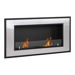 Moda Flame - Moda Flame Lugo Wall Mounted Ethanol Fireplace - Add warmth, charm and ambiance with GF101600 Lugo Wall Mounted Ethanol Fireplace by Moda Flame The Lugo wall mounted ethanol fireplace is the ideal way to give modern design and warmth to any household. With its magnificent steel outer frame and two dual layer burners, the Lugo creates a attractive and a admirable showcase of flames in any room. Fireplace (1)