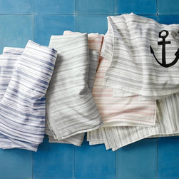 Spa Stripe Beach Towel - Looking to keep your anchors understated? Fun hand towels are easy to change out or stock up on, depending on your mood. I have a few for every bathroom!