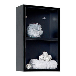 Fresca - Bathroom Linen Shelves - Product Material: Wood. Finish: Black. 2 Large Storage Areas. 11.88 in. W x 5.88 in. D x 19.63 in. HThis small side cabinet comes with a Black finish. It features 2 open storage areas.