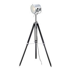 Lite Source - Lite Source LS-82337 Trey 1 Light Floor Lamp - Features: