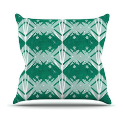 "Kess InHouse - Alison Coxon ""Diamond"" Teal White Throw Pillow (18"" x 18"") - Rest among the art you love. Transform your hang out room into a hip gallery, that's also comfortable. With this pillow you can create an environment that reflects your unique style. It's amazing what a throw pillow can do to complete a room. (Kess InHouse is not responsible for pillow fighting that may occur as the result of creative stimulation)."