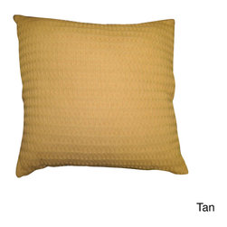 None - Santa Barbara 18-inch Cotton Throw Pillow (Set of 2) - This 100-percent cotton waffle-weave textured pillow is a versatile style that can adorn any room or living space. The Santa Barbara pillow also co-ordinates with the Santa Barbara cotton blanket.