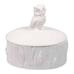What a Hoot Box - This owl knows it's a smart choice to keep your finer things tucked away in a charming box. Drop your diamond earrings in here as well as the movie tickets from that epic first date with the one you love.