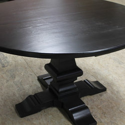 48 round table venetian pedestal - round 48 dining table with venetian pedestal base, www.ecustomfinishes.com