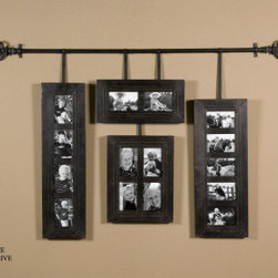 Uttermost 13408 Hanging Photo Frames Alternative wall decor - This stylish set of hanging picture frames in hand-forged metal has a masculine feel.