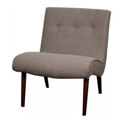 NPD (New Pacific Direct) Furniture - Alexis Chair by NPD Furniture, Gun Metal - Comfort and durable, this Alexis fabric chair will be a great addition to your living area. Solid Birch wood frame.