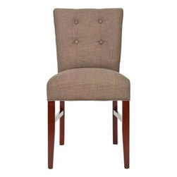 Safavieh - Trevor Side Chair (Set Of 2) - Olive - The classic styling of the Trevor side chair will make it a dining staple. With olive linen upholstery, and backrest detailing of four button tufts, Trevor is crafted with birch wood legs with cherry mahogany finish.
