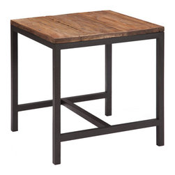 ZUO - Fitch Side Table - The Fitch Side Table is simple yet graceful. Made of distressed elm with metal base. It's a harmonious yet useful addition to any room.
