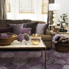 Contemporary  purple in the room