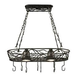 Kenroy Home - Kenroy - Twigs Two Light Pot Rack - KENROY - TWIGS TWO LIGHT POT RACK #90308-BRZ