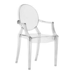 Zuo Modern Anime Indoor/Outdoor Dining Chair, Clear - Zuo Modern Anime Indoor/Outdoor Dining Chair