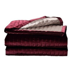 Jennifer Taylor 93 x 96 in. La Rosa Coverlet - The Jennifer Taylor 93 x 96 in. La Rosa Coverlet takes any design from dull to spectacular. This dazzling piece features a rich burgundy color that draws the eye and its solid color makes it an easy addition to any design. The piece is woven from 100% polyester and is sinfully soft and keeps things pleasantly warm. Piece is not machine washable; dry clean or spot clean only.About ACG Green Group, Inc.ACG Green Group is a home furnishing company based in Irvine, California and is a proud industry partner with the American Society of Interior Designers. ACG Green features Jennifer Taylor and Sandy Wilson, their exclusive home décor lines. These two complete collections offer designer home furniture, bedding sets, dining linens, curtains, pillows, and more in classic silhouettes, original designs, and rich colors to complement your home and life.