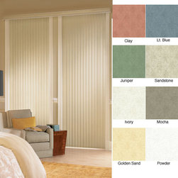 ZNL - Havana Vinyl Vertical Blinds (24 in. W x Custom Length) - Update your home decor instantly with new blindsHigh-quality window treatments are made of durable vinylVertical blinds are custom-made to length