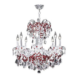 James R Moder - 94208S2RA James R Moder Designer Colors Chandelier - In most designs, the major cost of a Crystal Chandelier is the price of the Crystal components. The quantity and shapes of the Crystal utilized to trim the Chandelier and most importantly, as in grades of diamonds, the crystal quality determines the price. James R Moder  Crystal offers IMPERIAL Crystal trim
