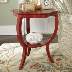 "Hammary - Hidden Treasures Red Flower Table - ""Hammary's Hidden Treasures collection is a fine assortment of unique accent pieces inspired by some of the greatest designs the world over. Each selection is rich in Old World icons and traditions."