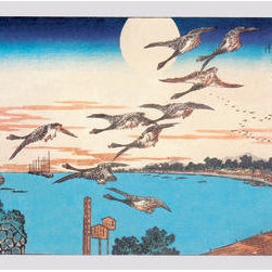 Buyenlarge - Harvest Moon 28x42 Giclee on Canvas - Series: Japanese Prints - Hiroshige