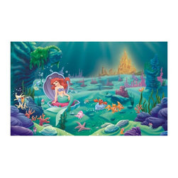 RoomMates - RoomMates Disney Littlest Mermaid Chair Rail Mural Multicolor - JL1224M - Shop for Wall Decorations from Hayneedle.com! About Roommates: Roommates a subsidiary of York Wallcoverings Inc creates some of the most versatile and unique wall decor you'll find. Their innovative wall decals feature a removable and endlessly reusable design allowing you to move and rearrange your decals as often as you like all without causing any damage to your walls or furnishings. This means you can apply them without worry or headache since you don't have to get the application perfect the first time. RoomMates work on any smooth surface and are particularly ideal for temporary decorating such as around the holidays. All RoomMates products are proudly made in the USA and are made from non-toxic materials so they're as safe for your kids and pets as they are for your walls.Please note this product does not ship to Pennsylvania.
