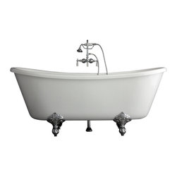 Baths of Distinction - Hotel Collection Bateau Double Slipper Clawfoot Bathtub/Faucet Package - Product Details: