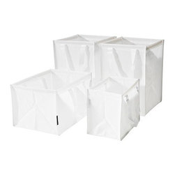 Sarah Fager - DIMPA Recycling bag, set of 4 - Recycling bag, set of 4, white