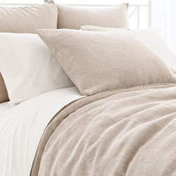 Linen Chenille Natural Duvet Cover - Linen duvets are so simple and so pretty. This one is a blend, so it won't wrinkle as much.