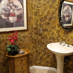 eclectic powder room by Room Resolutions, Inc.
