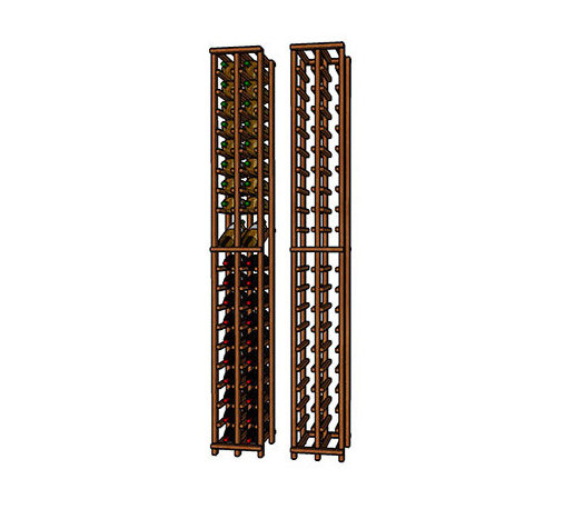 "WineRacks.com Premium Series 2 Column Wine Racks - Dimensions: 9 3/4"" wide x 77 1/4"" high x 12 3/8"" deep"