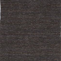 Jaipur Rugs - Natural Solid Pattern Hemp/Jute Gray /Black Woven Rug - CL11, 5x8 - The popular Calypso Collection is proof that simplicity is a wonderful approach to decoration. Crafted of natural jute, each rug is expertly woven by hand to our impeccable standards of quality for a relaxed feel of comfort. In rich colors ranging from eye-catching jewel tone to highly functional neutrals, the Calypso Collection will add texture and dimension wherever it is placed.