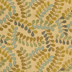 Teal and Beige Textured Leaves Matelasse Upholstery Fabric By The Yard - This matelasse upholstery fabric is designed with a quilted background and woven leaves on branches embroidered in the fabric. This fabric is durable, easy to clean and great for indoor upholstery.