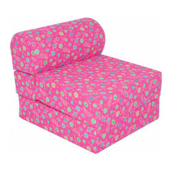 Elite Products - Children's Foam Sleeper Chair - Doesn't your child need a functional furniture piece that doesn't take up a lot of space? Child Studio Chair Sleepers are the ideal solution. Use it as a chair, or simply unfold it into a super plush mattress. Kids love to use it for taking naps, reading a book or TV time. It's an essential furniture piece for children. Features: -Ideal space saving furniture.-Great for taking naps on.-Good for overnight camping.-Lightweight for easy handling.-Fun, expressive fabrics that children can enjoy.-Stores away easily.-Recommended seating for 1 - 10 year olds.-Color: Pink flowers.-Distressed: No.-Upholstery Material: Cotton.-Arms: No .-Legs : No .-Country of Manufacture: United States.Dimensions: -Chair Dimensions: 23.5'' H x 24'' W x 28.5'' D.-Sleeper Dimensions: 12'' H x 24'' W x 64'' D.-Overall Product Weight: 9 lbs.Warranty: -Product Warranty: 1 year.
