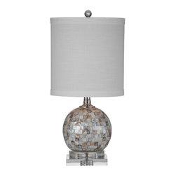 Bassett Mirror - Bassett Mirror Dania Table Lamp L2794TEC - Bassett Mirror Dania Table Lamp L2794TEC