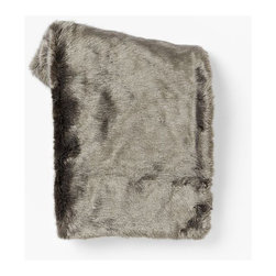 Faux Fur Throw, Pewter - My bedding is a textured white that I love. Now that winter is descending, I love the thought of adding this beautiful faux fur throw.