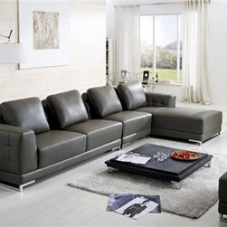Omano Leather Sectional Sofa Clearance Sale - Four distinct pieces, thick leather upholstery and contemporary styling make this Omano Sectional Set an excellent addition to your home for years to come.