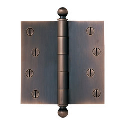 Rejuvenation: Kitchen - Our solid brass 4in. Ball-Tip Door Hinge is available in multiple finishes to coordinate with our door sets.