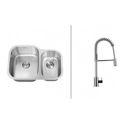 Ruvati - Ruvati RVC2501 Stainless Steel Kitchen Sink and Chrome Faucet Set - Ruvati sink and faucet combos are designed with you in mind. We have packaged one of our premium 16 gauge stainless steel sinks with one of our luxury faucets to give you the perfect combination of form and function.