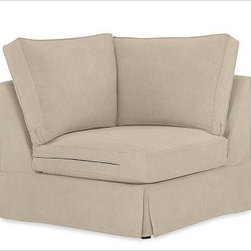 "PB Comfort Square Arm SectionalCornerEveryday VelvetBuckwheatSlipcover - Designed exclusively for our versatile PB Comfort Square Sectional Components, these soft, inviting slipcovers retain their smooth fit and remove easily for cleaning. Left Armchair with Box Cushions is shown. Select ""Living Room"" in our {{link path='http://potterybarn.icovia.com/icovia.aspx' class='popup' width='900' height='700'}}Room Planner{{/link}} to select a configuration that's ideal for your space. This item can also be customized with your choice of over {{link path='pages/popups/fab_leather_popup.html' class='popup' width='720' height='800'}}80 custom fabrics and colors{{/link}}. For details and pricing on custom fabrics, please call us at 1.800.840.3658 or click Live Help. Fabrics are hand selected for softness, quality and durability. All slipcover fabrics are hand selected for softness, quality and durability. {{link path='pages/popups/sectionalsheet.html' class='popup' width='720' height='800'}}Left-arm or right-arm{{/link}} is determined by the location of the arm as you face the piece. This is a special-order item and ships directly from the manufacturer. To see fabrics available for Quick Ship and to view our order and return policy, click on the Shipping Info tab above. Watch a video about our exclusive {{link path='/stylehouse/videos/videos/pbq_v36_rel.html?cm_sp=Video_PIP-_-PBQUALITY-_-SUTTER_STREET' class='popup' width='950' height='300'}}North Carolina Furniture Workshop{{/link}}."