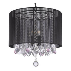 Gallery - Gallery T40-380 3 Light 1 Tier Crystal Mini Chandelier - Features: