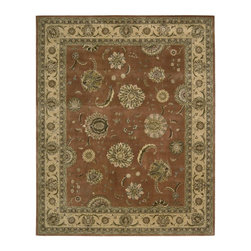 Nourison - Nourison Nourison 2000 Persimmon Area Rug - Redefine luxury with Nourisons most popular handmade signature collection featuring Persian and European traditional designs. The dense pile splendid patterns deeply compelling textures and intriguing aesthetics are certain to command immediate attention in any setting.