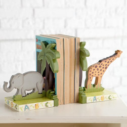 Fantasy Fields - Fantasy Fields Animal Themed Book Ends - W-4834A - Shop for Bookends from Hayneedle.com! Whimsical and charming the Animal Themed Book End is the perfect way to organize your child's books. One end of this hand-painted wooden piece features a giraffe and tree while the other depicts an elephant and matching tree. The bases are decorated with a colorful alphabet. About Teamson Design Corp.Teamson is a wholesale gift and furniture company based in Edgewood New York. Known for their wide selection of products Teamson has been providing for customers since 1997 and produces high quality items that are sure to delight you and your family. Trust in Teamson for all of your home decor furniture and gift-giving needs.