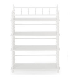 Jenny Lind Bookcase, White - This sweet spindle bookcase would look great in a little girl's room or baby's nursery.