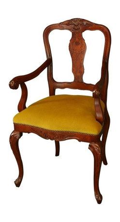 EuroLux Home - Large New Italian Rococo Arm Chair Inlaid - Product Details