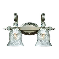 Golden Lighting - Golden Lighting 8118-BA2 2 Light Up / Down Light Bathroom Fixture from the Alsto - Golden Lighting 8118-BA2 Alston Place 2 Light Up / Down Light Bathroom FixtureWith traditional lines and eye-catching glass shade design, this two light bathroom vanity wall sconce offers a timeless elegance with a modern touch. Alston Place Collection fixtures Bathroom lights are offered in Pewter with Iced Crystal glass and Burnt Sienna with Heirloom Crystal glass for a variety of bathroom lighting ideas.Golden Lighting's Alston Place Collection features Amber glass center column adding a modern touch to its traditional style. Hand-cut crystal glass emits soft brilliance and exceptional clarity and while the four layers of color create the unique finish.Features: