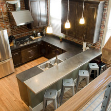 Industrial Kitchen Kitchen in Sandusky home