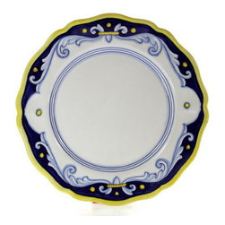 Artistica - Hand Made in Italy - Antico Deruta Lite: Dinner Plate (Simple Decor - SIM) - Antico Deruta Collection: Throughout the years, our Antico Deruta collection has been always considered the most formal depiction of the Ricco Deruta pattern.